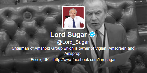 lord alan sugar twitter