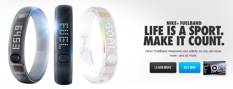 nike fuelband call to action
