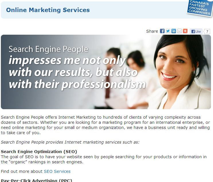 offering services on blog example 2