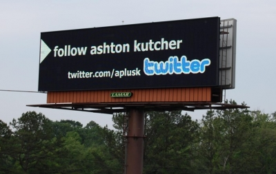 twitter on ads and billboards
