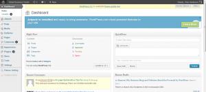 wordpress dashboard (control panel) overview