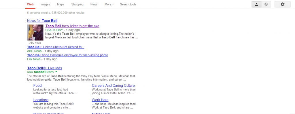 taco bell google search