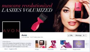 avon favebook page engagement