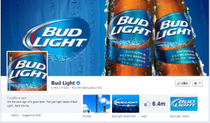 bud light facebook