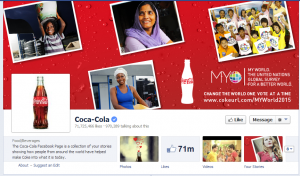 coca cola facebook engagement