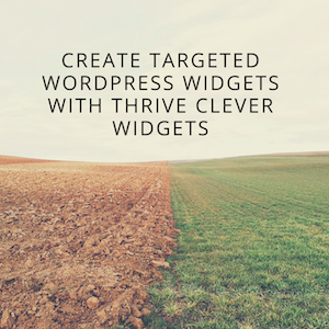 Create Targeted WordPress Widgets with Thrive Clever Widgets