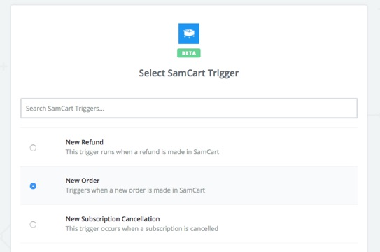 Good  Landing Page Software Samcart