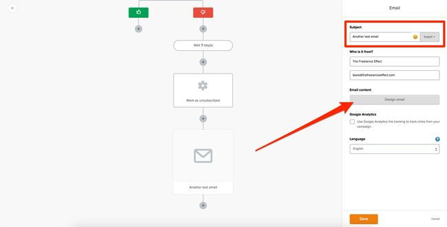MailerLIte Automation Email Editing #2
