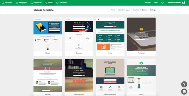 MailerLite Landing Page Templates