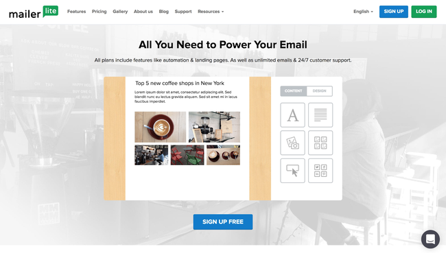 Mailerlite Email Marketing  Used