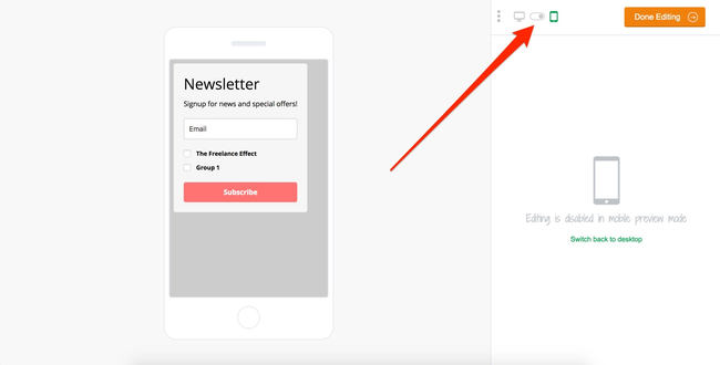 MailerLIte Mobile Preview