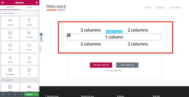 Elementor UX - Sections & Columns