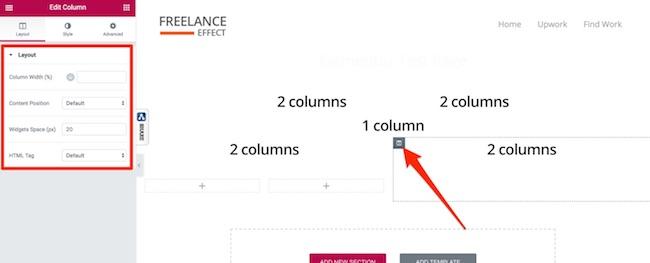 Elementor UX - Column Settings