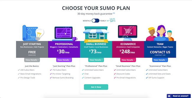 Sumo List Builder - Pricing