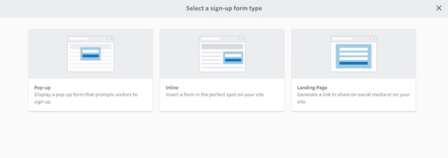 Constant Contact signup forms