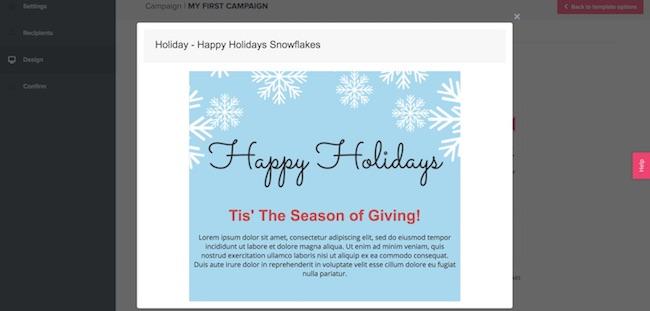 SendLane email template example