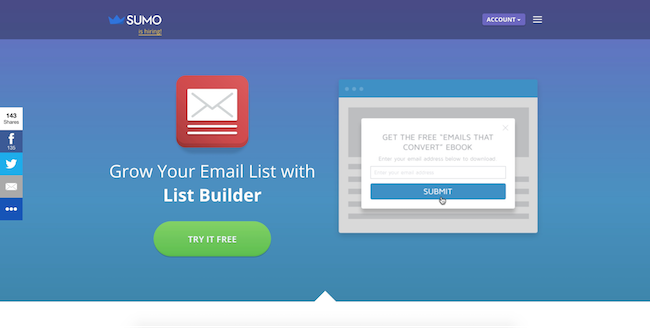 Sumo List Builder Home