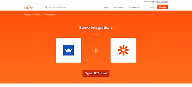 Sumo List Builder - Zapier Integration