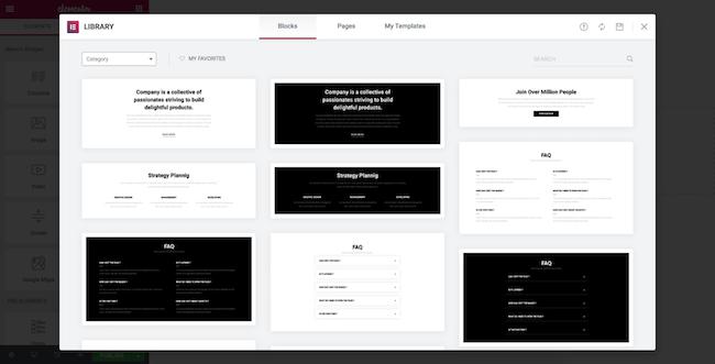 Elementor Content Blocks