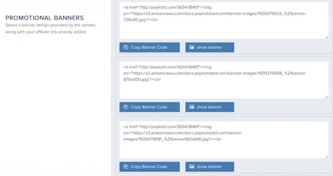 PayKickStart affiliate links