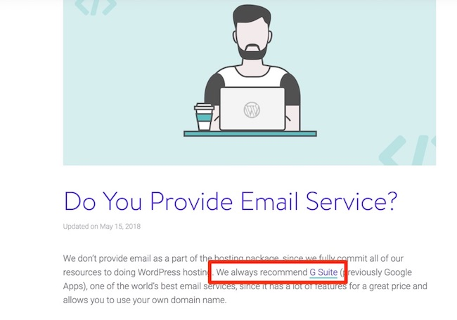 Kinsta (lack of) email service