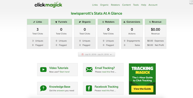 ClickMagick stats