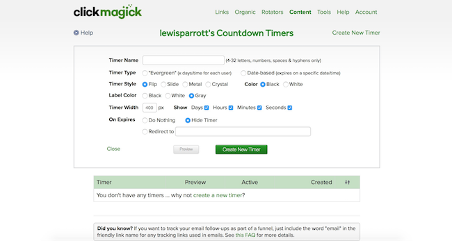 ClickMagick countdown timers