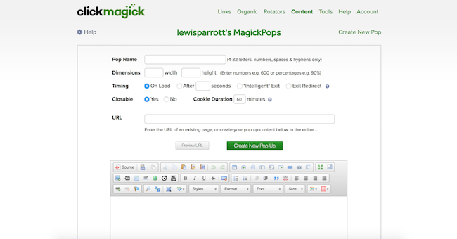 ClickMagick MagickPops