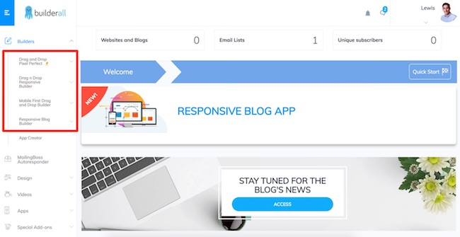 BuilderAll Response Blog App