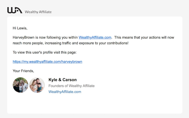 Wealthy Affiliate Inbox Notifications