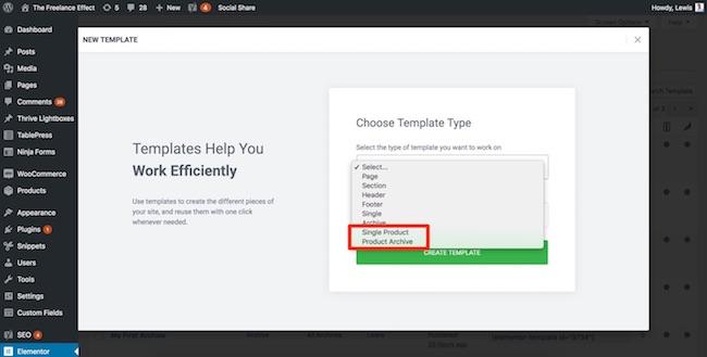 Elementor - WooCommerce templates