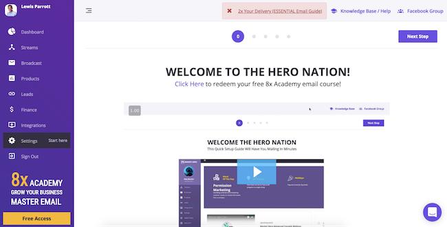 Market Hero Welcome Screen