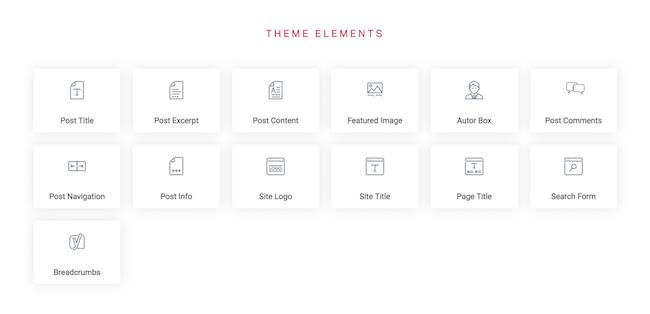 Elementor - theme elements