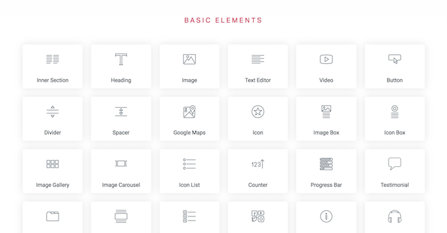 Elementor - basic elements