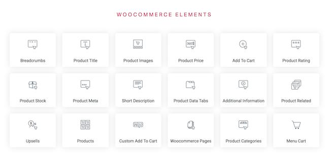 Elementor - WooCommerce elements