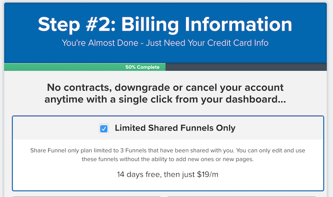 $19/mo Share Funnel plan