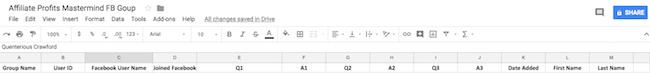 Group Convert Google Sheets Template