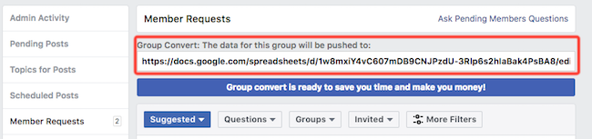 Group Convert Spreadsheet URL