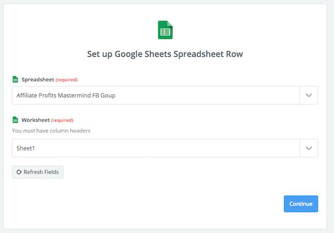 Zapier Google Sheets Row
