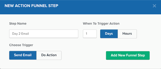 Action Funnel Step