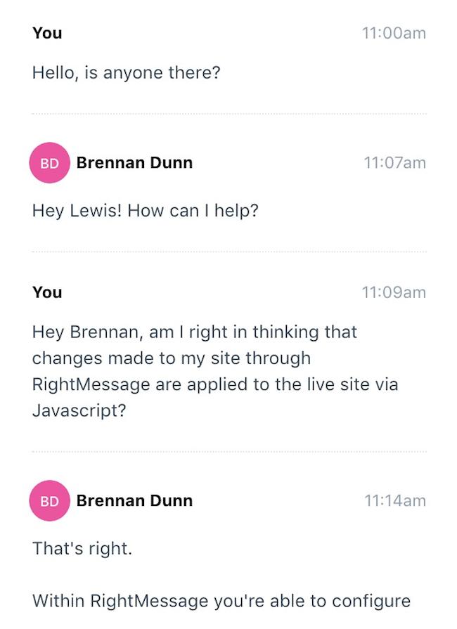 chat response