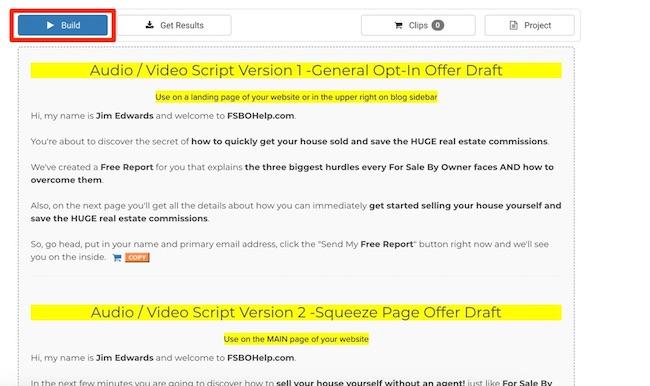 build script