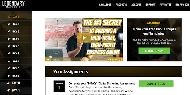 Legendary Marketer 15 Online Business Builder Challenge