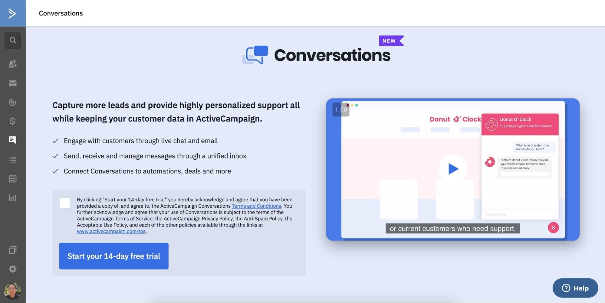 conversations trial