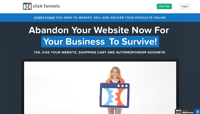 clickfunnels website