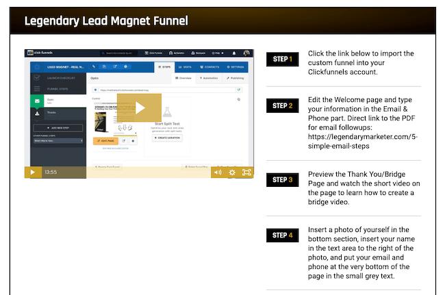 Legendary Lead Magnet Funnel