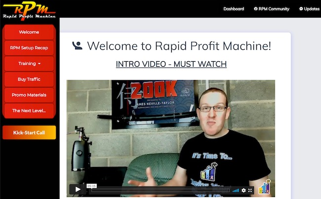 Rapid Profit Machine Dashboard