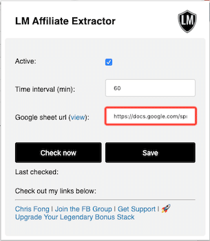 LM Affiliate Extractor