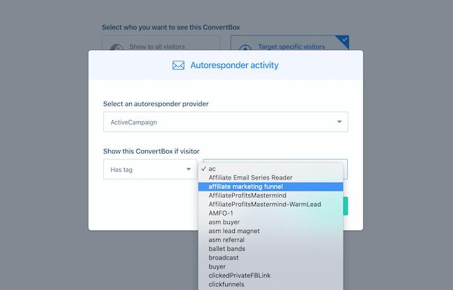 Autoresponder activity