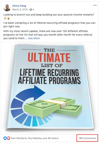 FB Engagement post